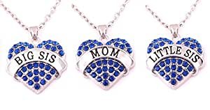 Charm.L Grace Matching Necklaces Set, 3pcs(3BU-M)