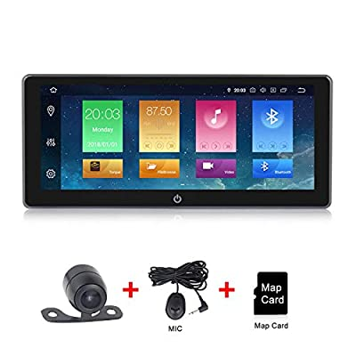 Android 9.0 Car Radio 10.25 inch IPS Touch Screen Double Din Car Stereo GPS Navigation Adjustable Viewing Angles Head Unit Supports WiFi 4G Bluetooth: GPS & Navigation