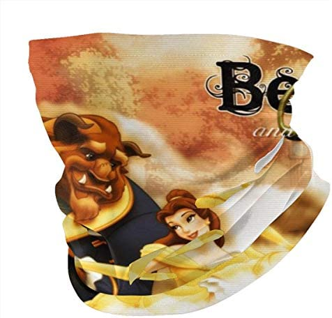 BEAUTY AND THE BEAST MASK & SHIELD FACE MASK SHIELD PROTECTIVE FOR MEN & WOMEN FASHION VARIETY HEAD SCARF BALACLAVA FOR DUST, OUTDOORS, SPORTS