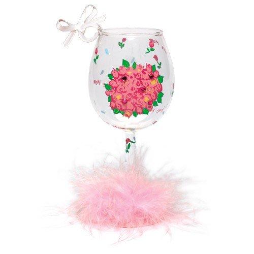 Santa Barbara Design Studio Lolita Holiday Mini-Wine Ornament, Mom's Bouquet (Glass Wine Ornament Lolita)