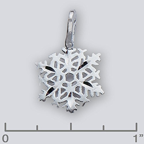 Sterling Silver Snowflake Winter Charm Pendant 409 - Silver Jewelry Accessories Key Chain Bracelet Necklace Pendants ()