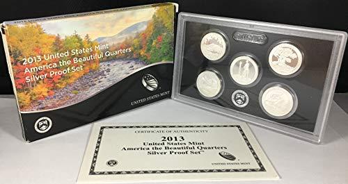 Quarter Us Mint - 2013 S US Mint America the Beautiful Quarters Silver Proof SetTM Original Government Packaging