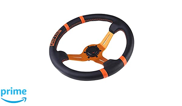 Amazon Com Terisass Steering Wheel 350mm 14 Inch Aluminum Leather