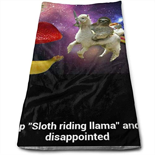 Towel Nickel Purist (Sloth Riding A Llama Multi-Purpose Microfiber Towel Ultra Compact Super Absorbent and Fast Drying Sports Towel Travel Towel Beach Towel Perfect for Camping, Gym, Swimming.)