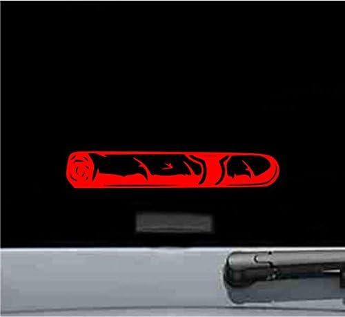 JS Artworks Cigar Silhouette Vinyl Decal Sticker (RED)