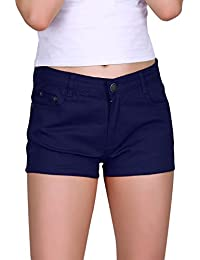 Women's Solid Color Ultra Stretch Fitted Low Rise Moleton...