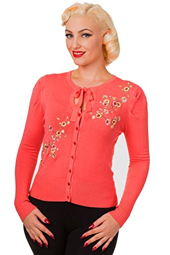 Banned - Gilet - Femme rouge corail