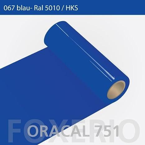 Orafol - Oracal 751 - 31cm Rolle - 5m (Laufmeter) - Blau / hochglänzend, A85oracal - 751 - 31cm - 11 - kl - Autofolie / Möbelfolie / Küchenfolie