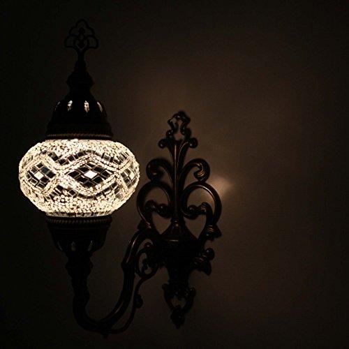 Lumière Applique Murale Mosaïque Lavage Turque Transparent Lampe Nw8vm0n