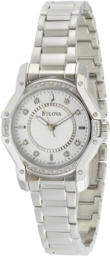 Diamonds White Dial (Bulova Women's 96R137 Silver Case Diamond White Dial Watch)