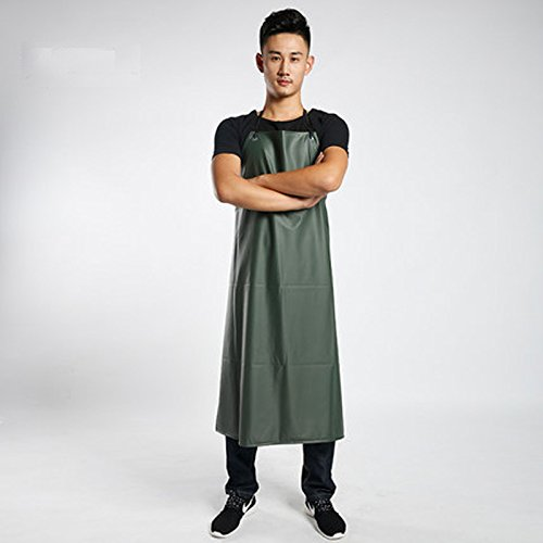 - Lqchl Oil-Proof Waterproof Pvc Aprons Sleeveless Cooking Work Aprons Kitchen Restaurant Hotel Cleaning Adult Chef Apron 110Cm X 80Cm,Green