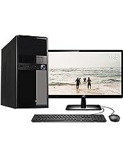 Computador Completo Intel Core i3 4GB HD 500GB Monitor HDMI 19.5 Áudio 5.1 canais PC CPU Windows 10 Quantum Flex