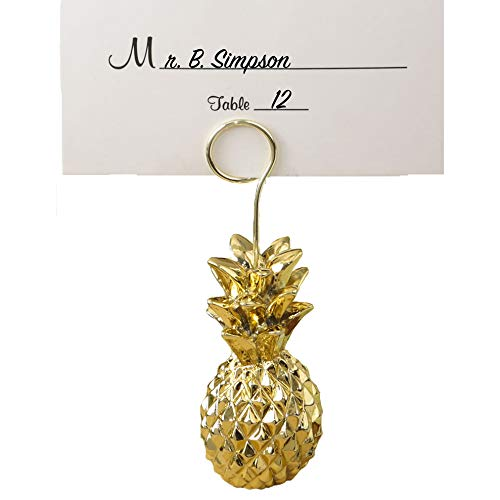 30 Warm Welcome Gold Pineapple Themed Place Card Holders