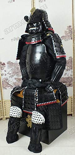(Iron & Silk Japanese Wearable Rüstung Samurai Armor Helmet Mask Suit Black O13)