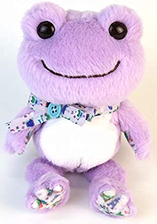 Nakajima Corporation Japan Pickle of Pink Frog Strawberry Milk Bean Plush Doll