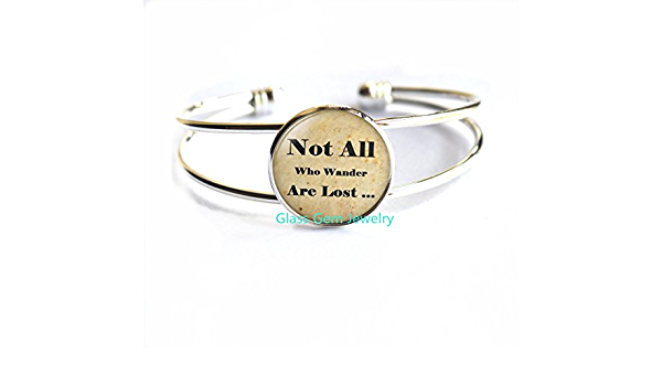 Intention Bracelet Not All Who wander are lost .Wax String Bracelet Friendship Adventure Gift Motivational Jewelry