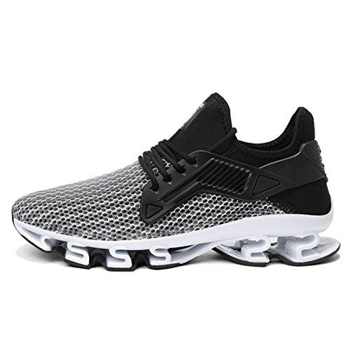 Outdoor Breathable Sports WYSBAOSHU Mens Shoes Running 5 Mesh Sneakers Grey Walking Shoe Blade qpBFqw0R