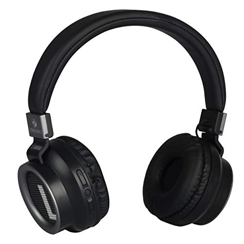 Zebronics Zeb-Bang Foldable Wireless BT Headphone Comes with 40mm Drivers, AUX Connectivity, Call Function, 16Hrs* Playback time & Supports Voice Assistant (Black)