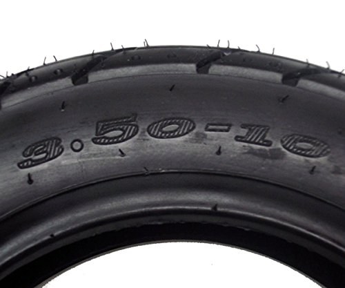 Tire Size 3.50-10 Tubeless Front//Rear Motorcycle Scooter Moped