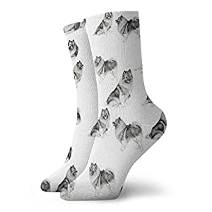 Keeshonds Unisex Socks Printed Soft Socks All-seasons Crew Socks Short Socks 30