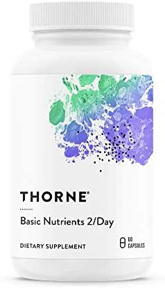Thorne Research - Basic Nutrients 2 / Day - Complete Multivitamin/Mineral Formula - 60 Capsules