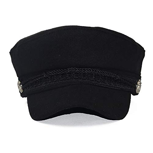 a04617c379968 FADA Black Horn Unisex Cotton Greek Fisherman s Sailor Fiddler Hat Trendy Newsboy  Cap by FADA (