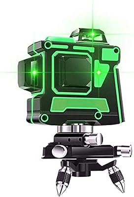 nivel l/áser multinivel autonivelante A 360 l/íneas cruzadas horizontales y verticales autoalineadas L/ínea l/áser verde Dudumao Nivel l/áser verde 3D 12 l/íneas