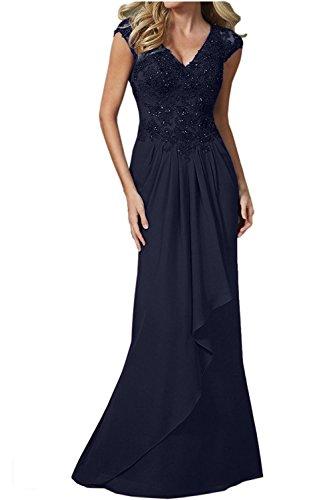 Braut Jugendweihe Elegant Kleider Dunkel Lang mia Festlichkleider Abendkleider Etuikleider Blau Damen Spitze Partykleider La Navy 5TRCwgqxC
