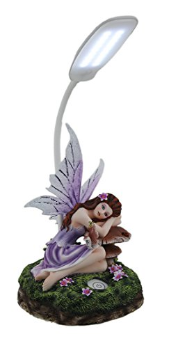 Amethyst the Fairy of Forest Light On Mushroom LED Desk Lamp ()