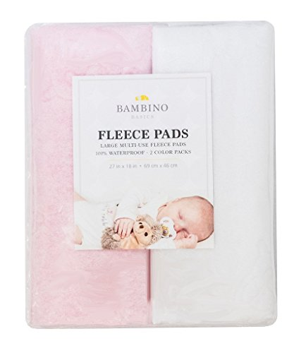 Bambino Basics - 2 PACK - 100% Fleece JUMBO Multi Use Pads -