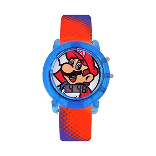 - Super Mario Flashing Lights LCD Watch