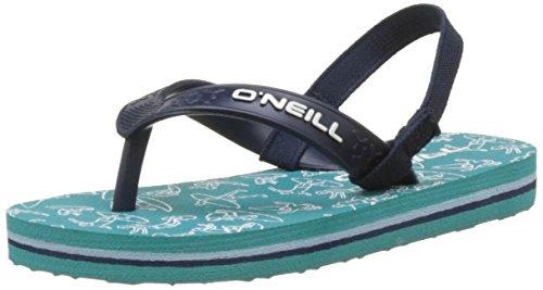 ONeill Unisex-Kinder Fy Team Lil Flip Flops Dusch-& Badeschuhe Vert (Green Blue)