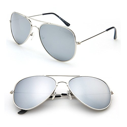 New Aviator Pilot Men Sunglasses Sun Glasses for Women Mirrored UV Eyewear Goggles Gafas Cases,SunglassesNo10,50Centimeters