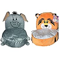 Flipazoo Plush Chair - Elephant/Tiger