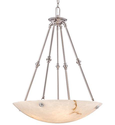 Metropolitan Bowl Pendant - Metropolitan N3705-PW Virtuoso II Pendant, 5-Light 500 Total Watts, Pewter Plated
