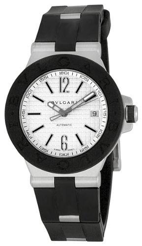 Bvlgari Bulgari) reloj dg40 C6svd diagono de caucho blanco para hombres [paralelo mercancías de importación]: Amazon.es: Relojes