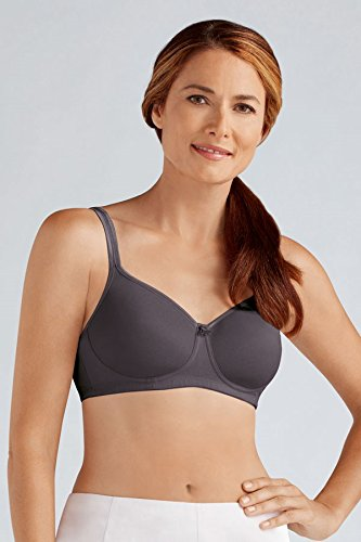 Amoena Bra (Amoena Women's Mara Padded Wire Free Pocketed Bra, Dark Grey, 38C)