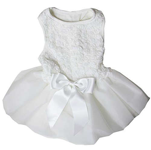 Kirei Sui White Rosettes PETS Tutu Party Dress...