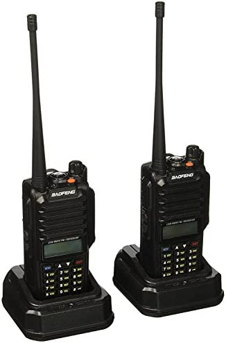 BaoFeng GT-3WP Dual Band Two-Way Radio, Waterproof Dustproof IP67 Walkie Talkie Transceiver, VHF UHF 136-174 400-520MHz, with Programming Cable, Black, 2 Pack