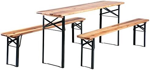 Bancos y mesa plegable para carpas y exterior Stagecaptain ...