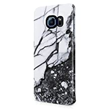 Crystal White Marble & Granite Print Samsung Galaxy S6 Edge Plastic Phone Protective Case Cover