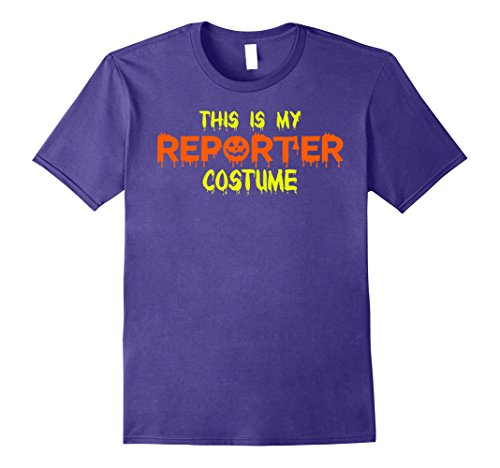 Reporter Costume (Mens This Is My Reporter Costume Halloween T Shirt Small Purple)