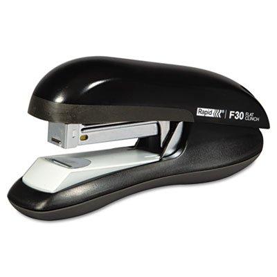 Flat Clinch Half Strip - F30 Flat Clinch Half Strip Stapler, 30-Sheet Capacity, Black, Sold as 1 Each