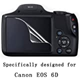 Screen Protector Guard Film for Canon 6D Camera (2 Pack)