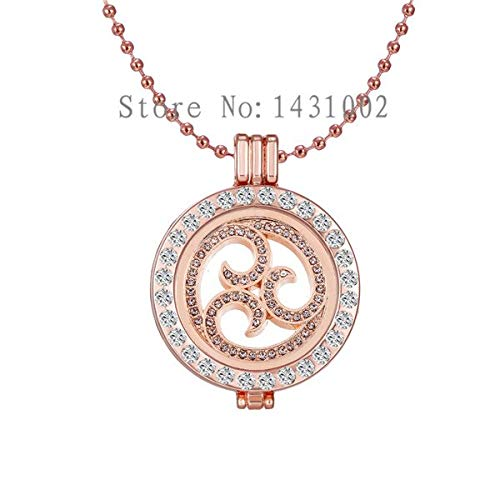 Hollow Swirl Coin Pendants & Necklaces | 33mm Coin Holder Necklaces