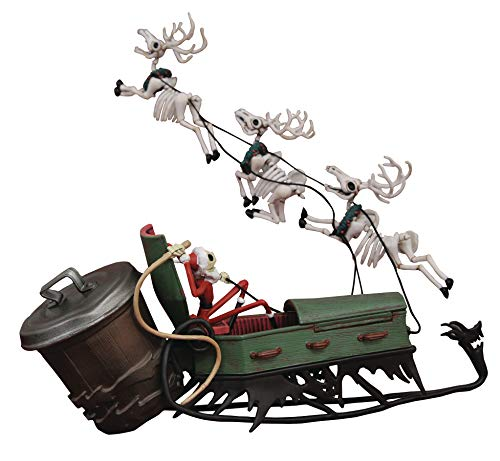 DIAMOND SELECT TOYS The Nightmare Before Christmas: Jack in Sleigh Deluxe PVC Set, Multicolor