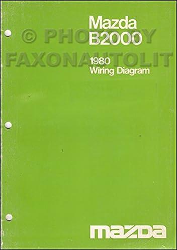 1980 mazda b2000 pickup truck wiring diagram manual original mazda rh amazon com