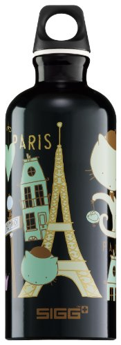 Sigg Kids Water Bottle, Meow De Paris, 0.6 Liter