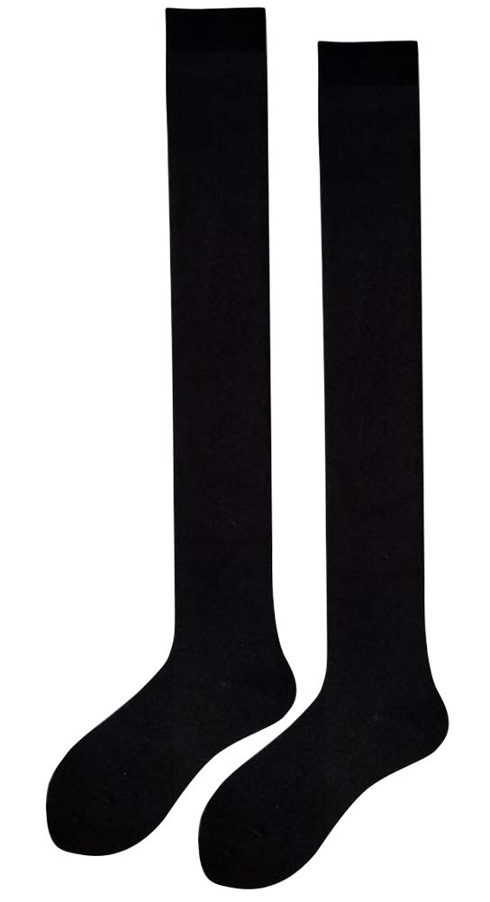 ACE SHOCK Women Stockings Striped Thigh High Socks Cotton Over The Knee Socks Boot Stockings Leg Warmers (One Size