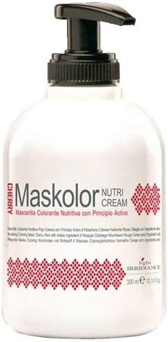 Light Irridiance Maskolor Nutri Cream Cherry - Mascarilla colorante nutritiva rojo cereza 300mL
